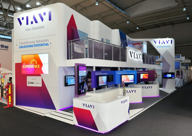 forex and vinyl finish of booth on tradeshow